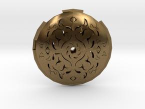 Hollow Rune Medallion in Natural Bronze