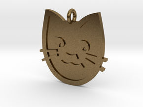Cat Pendant in Natural Bronze
