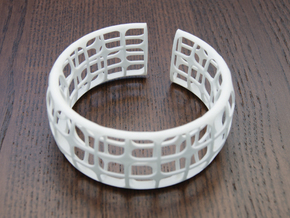 Deco Bracelet in White Natural Versatile Plastic