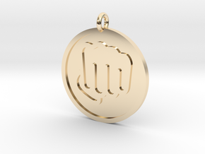 Fisted Hand Pendant in 14k Gold Plated Brass