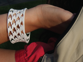 HoundsTooth Bracelet in White Natural Versatile Plastic