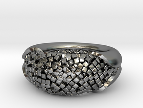 Cluster ring in Polished Silver: 5.5 / 50.25