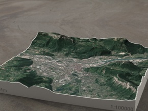 Grenoble, France, 1:100000 in Full Color Sandstone