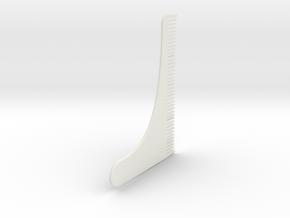 Beard comb in White Natural Versatile Plastic