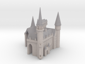 1/720 Hogwarts - Courtyard in Full Color Sandstone