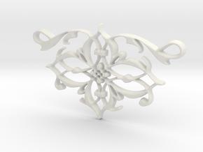 Elegant Vintage Classy Pendant Charm in White Natural Versatile Plastic