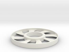 fidget spinner rim in White Natural Versatile Plastic: Small