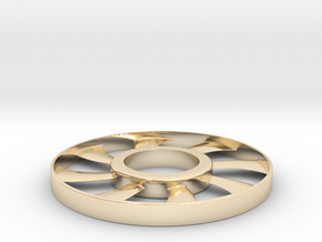fidget spinner rim in 14K Yellow Gold: Small