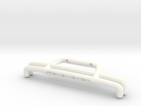 081009-02 KingCab Front Bumper w/Aux Lights Mounts in White Processed Versatile Plastic