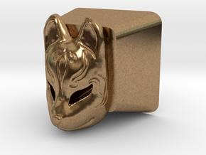 Kitsune Mask Cherry MX Keycap in Natural Brass