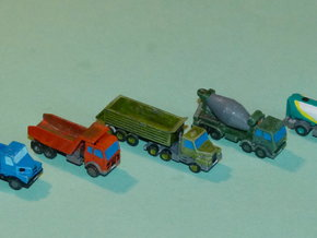 Construction Site Vehicles 1/285 6mm in Smooth Fine Detail Plastic