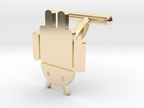 Droidbot Cufflinks in 14K Yellow Gold