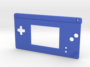 Gameboy Macro Faceplate (for DS Lite) - 2 Buttons in Blue Processed Versatile Plastic