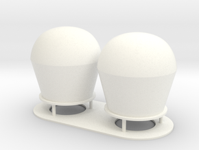 1:72 scale SatCom Dome Set 1 in White Processed Versatile Plastic