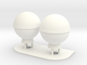 1:72 SatCom Dome Set 3 in White Processed Versatile Plastic