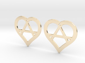The Wild Hearts (precious metal earrings) in 14K Yellow Gold