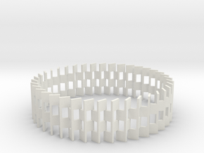 Goeritz Bangle in White Natural Versatile Plastic: Large