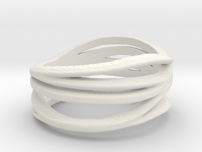 My Awesome Ring Design Ring Size 8 in White Natural Versatile Plastic: Medium