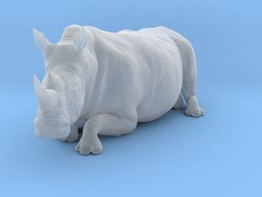 White Rhinoceros 1:35 Lying Female in Smooth Fine Detail Plastic