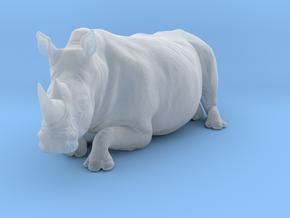 White Rhinoceros 1:48 Lying Female in Smooth Fine Detail Plastic