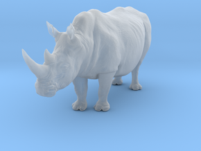 White Rhinoceros 1:22 Standing Male in Smooth Fine Detail Plastic