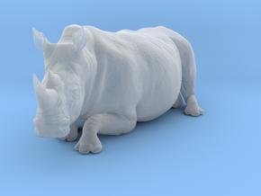 White Rhinoceros 1:22 Lying Female in Smooth Fine Detail Plastic
