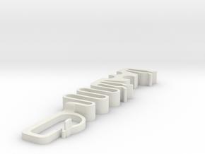 Regular Tugger Cable Strain Relief in White Natural Versatile Plastic