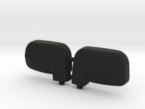 1:6 scale wing mirror for RC cars in Black Strong & Flexible