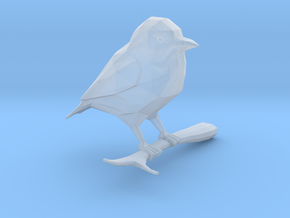 Low-Poly Stylised Bird in Smooth Fine Detail Plastic