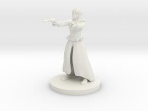 Elf Female Gunslinger - Two Pistols  in White Natural Versatile Plastic