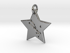 Taurus Constellation Pendant in Polished Silver