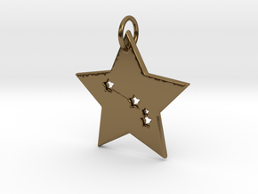 Aries Constellation Pendant in Polished Bronze