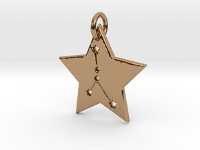 Cancer Constellation Pendant in Polished Brass