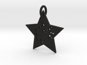 Sagittarius Constellation Pendant in Black Natural Versatile Plastic