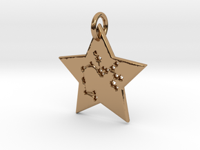 Sagittarius Constellation Pendant in Polished Brass