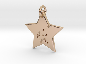 Aquarius Constellation Pendant in 14k Rose Gold Plated Brass