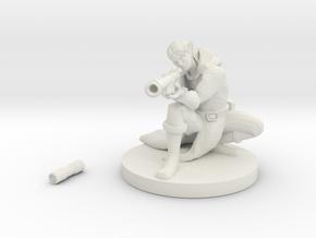 Elf Gunslinger / Sniper - Male  in White Natural Versatile Plastic