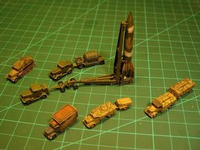 German V2 Rocket Battery 1/144  in White Natural Versatile Plastic