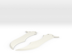 Butterfly Knife Blade in White Natural Versatile Plastic
