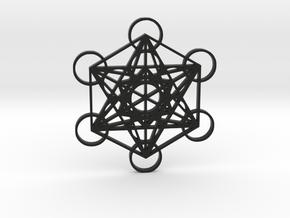 Metatrons Cube in Black Natural Versatile Plastic