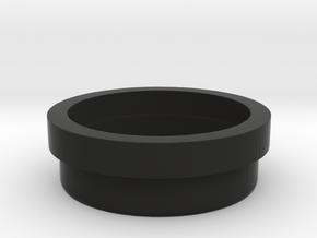Glass Eye Retention_Shine Through in Black Natural Versatile Plastic