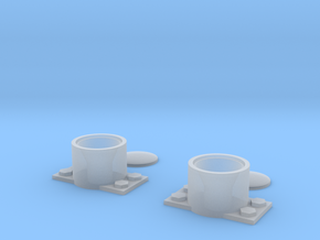 O Scale Headlights (Vertical Mount) in Smooth Fine Detail Plastic