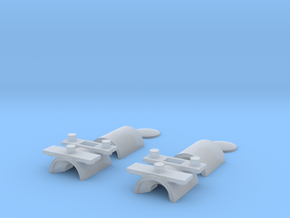 O Scale Headlights (Horizontal Mount) in Smooth Fine Detail Plastic