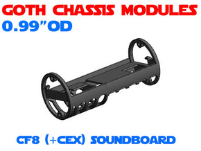 GCM099 - Crystal Focus 8 soundboard chassis in White Natural Versatile Plastic