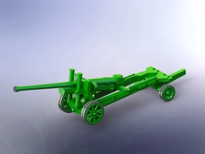 Sovjet 122mm A-19 Gun (travelling) 1/144 in Smooth Fine Detail Plastic