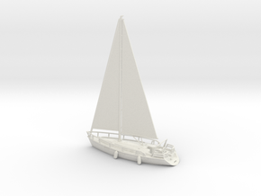 SailBoat_Ver02_Scale_N_Rev01 in White Natural Versatile Plastic