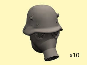 28mm WW1 German gas mask head in Smoothest Fine Detail Plastic