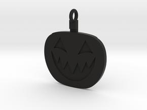 Jack-O-Lantern Pendant in Black Natural Versatile Plastic