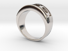 GTO Mens Automotive Ring in Rhodium Plated Brass: 11.5 / 65.25