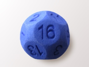 D16 Sphere Dice in Blue Processed Versatile Plastic